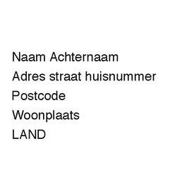 Transparante adresetiketten lettertype normaal
