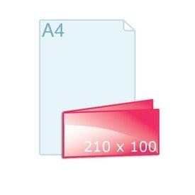 Gevouwen kaart 210 x 100