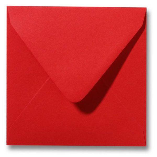 Gekleurde envelop Pioenrood