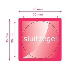 Sluitzegels basis 30 mm rond