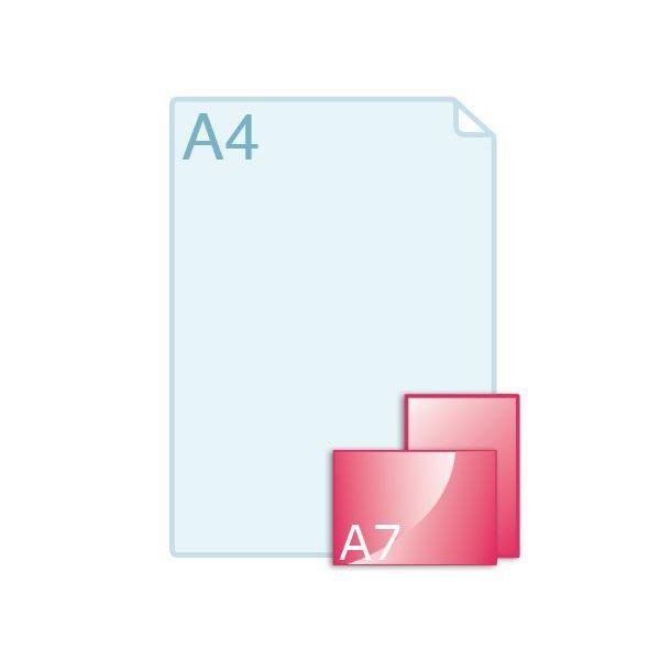 Inlegvellen voor kaart A7 (105 x 74 mm)