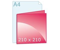 Gevouwen kaarten drukken carré 210