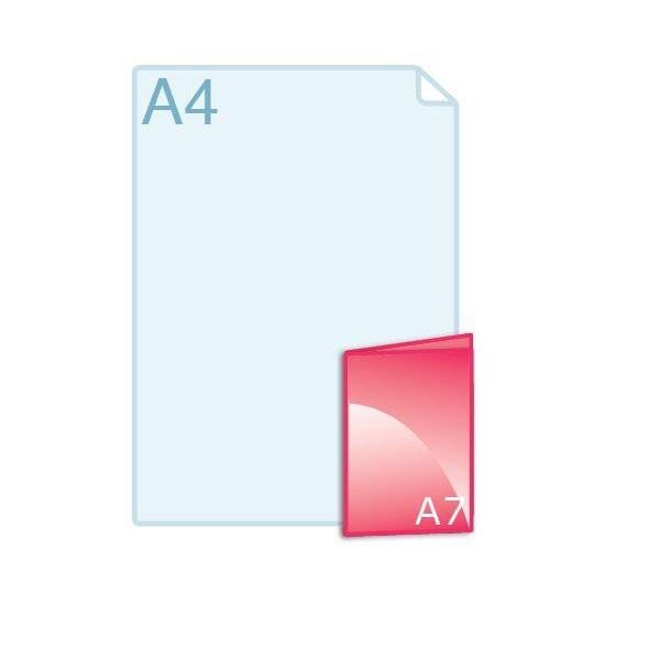 Gevouwen kaart A7 (74 x 105 mm)