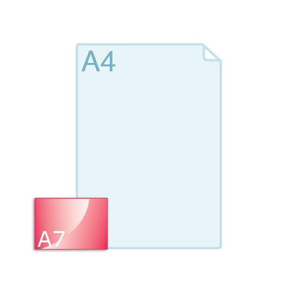 Enkele kaart A7 (105 x 74 mm) liggend
