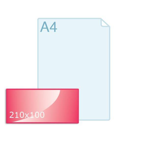 Enkele kaart 210 x 100 mm liggend