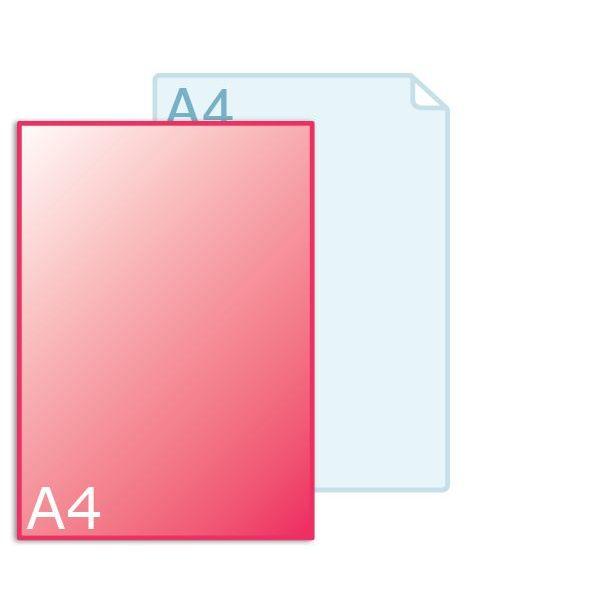 Enkele kaart A4 (210 x 297 mm) staand