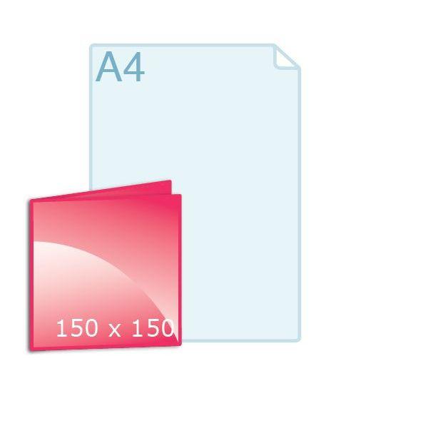 Gevouwen kaart carré 150 (150 x 150 mm) maken