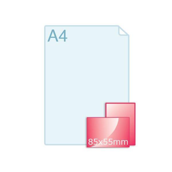 350 grs. Visitekaartjes 85 x 55 mm