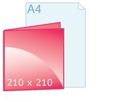 Geboortekaartjes drukken carré 210