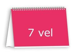 Bureaumaandkalender drukken, dubbelzijdig 6 vel op standaard