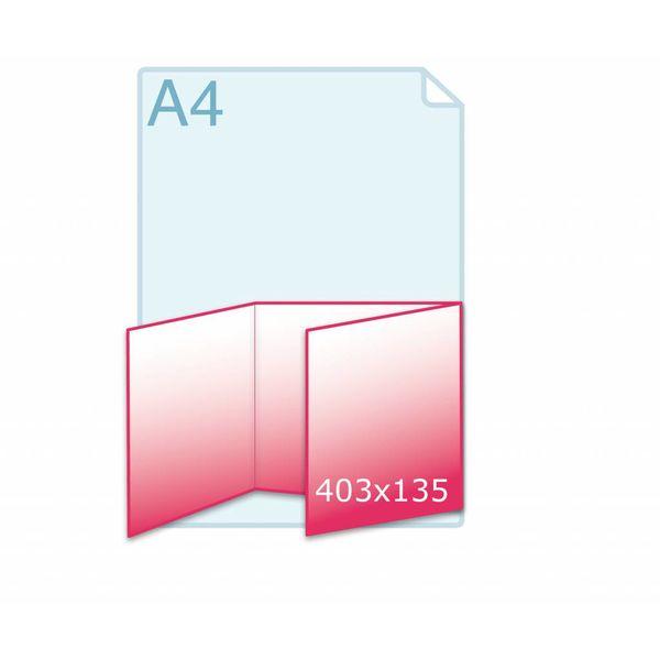 Drieluik wikkel carré 135 kaart (403 x 135 mm)