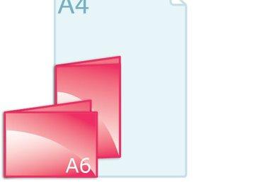 Gevouwen kaart A6