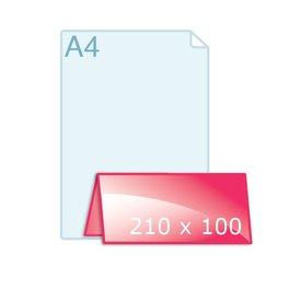 Gevouwen kaart 210 x 100 VB