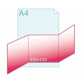 Drieluik zig/zag carré 150 kaart