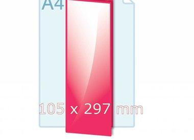 Gevouwen 105 x 297 mm