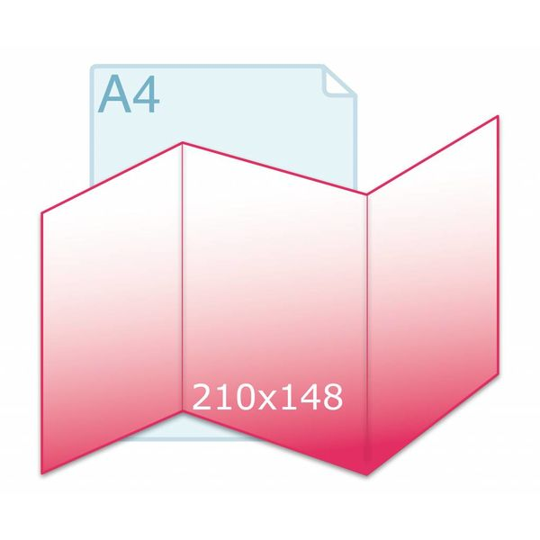 Drieluik zig/zag A5 (442 x 210 mm)