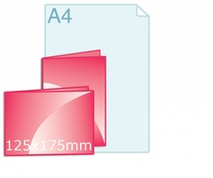 Gevouwen kaarten 125 x 175 mm