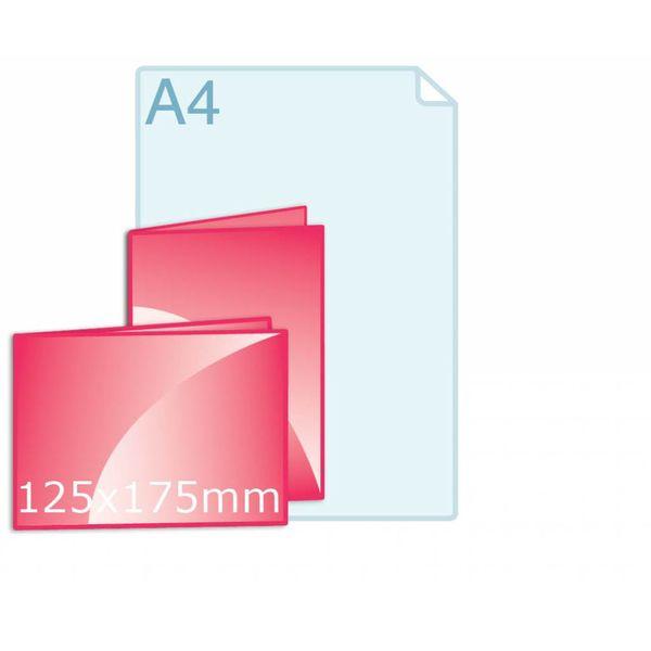 Gevouwen kaart 125 x 175 mm drukken