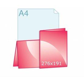 Gevouwen kaart 276 x 191 (138 x 191 mm) staand