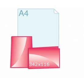 Gevouwen kaart 342 x 116 (171 x 116 mm)