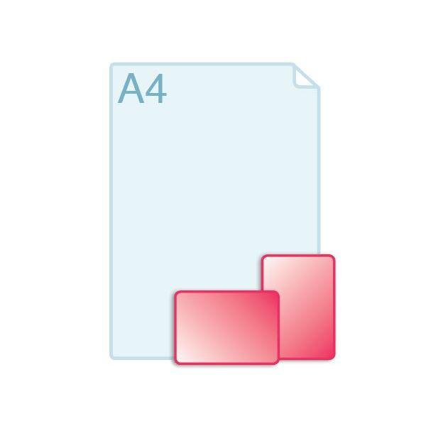 Enkele kaarten voorzien van ronde hoeken