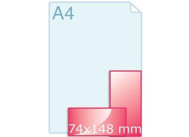 Enkele kaart label 74 x 148 mm