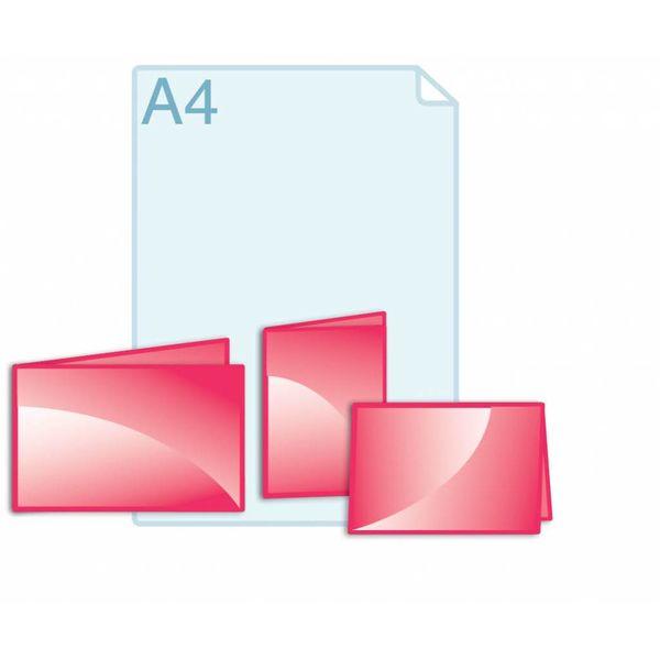 Afwijkend formaat kleiner dan een opengevouwen A5 formaat