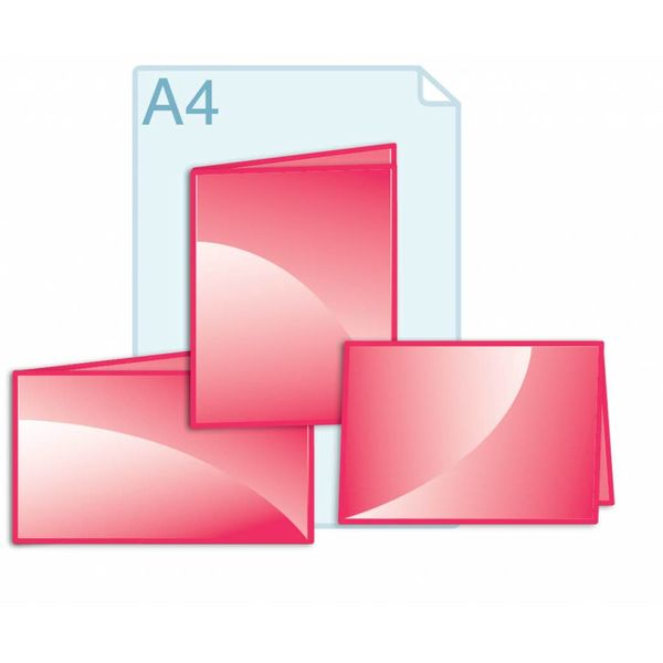 Afwijkend formaat kleiner dan een opengevouwen A4 formaat