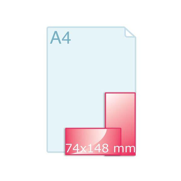 Flyers drukken 74 x 148 mm