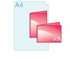 Online folders drukken op A6 formaat