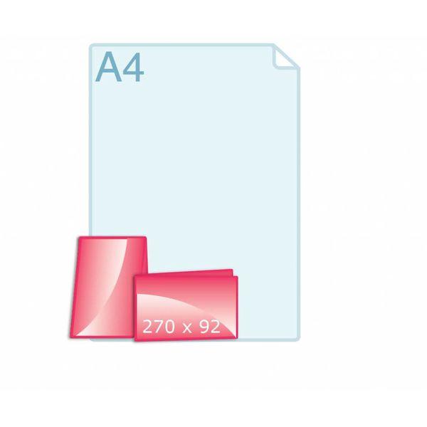 Gevouwen kaart 270 x 92 (135 x 92 mm) - liggend