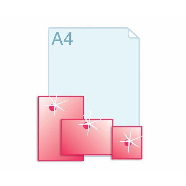 Spot UV glanslak aanbrengen op enkele kaarten A5 (148 x 210 mm) of kleiner