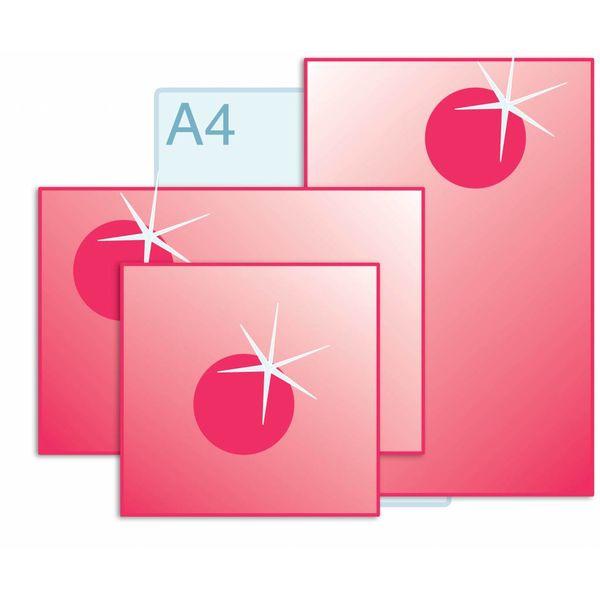 Spot UV glanslak aanbrengen op enkele kaarten A3 (297 x 420 mm) of kleiner