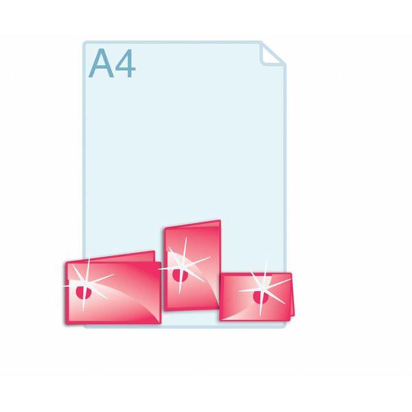 Spot UV glanslak aanbrengen op gevouwen A6 (296 x 105 mm of 210 x 148 mm) of kleiner.