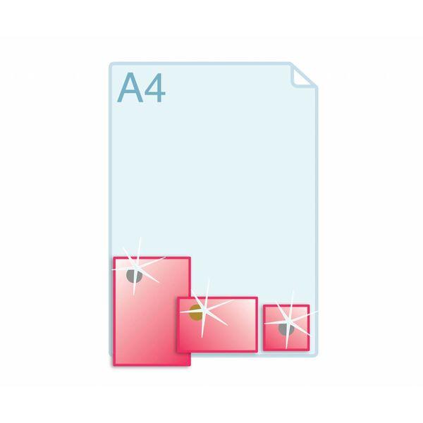Foliedruk aanbrengen op formaat (105 x 148 mm) of kleiner