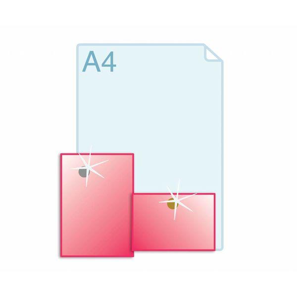 Foliedruk aanbrengen op formaat A5 (148 x 210 mm)