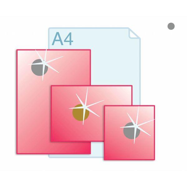 Mettalic folie aanbrengen op formaat A3 (297 x 420 mm) of kleiner