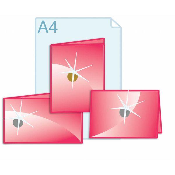 Foliedruk aanbrengen op formaat gevouwen A4 (420 x 297 mm) of kleiner