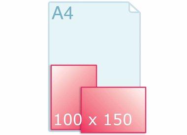 Enkele kaart 100 x 150