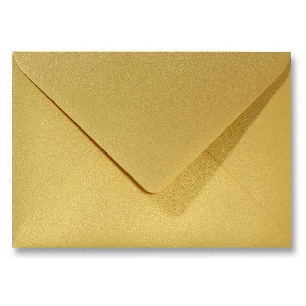 Gekleurde envelop metallics goud