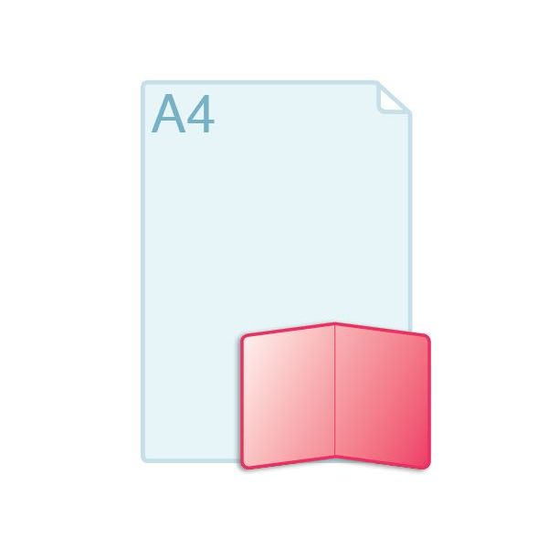Gevouwen kaarten voorzien van ronde hoeken