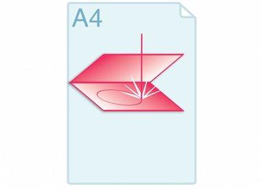 Laserstansen van gevouwen kaarten of folders