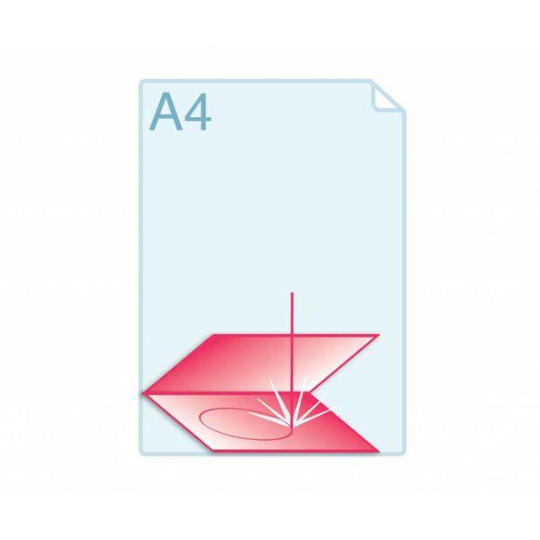 Laserstansen op formaat A5 (296 x 210 mm of 420 x 148 mm) of kleiner