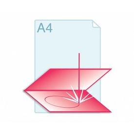 Laserstansen gevouwen A4 formaat of kleiner