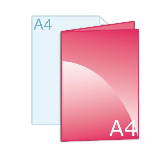 Gevouwen folder A4 (210 x 297 mm)