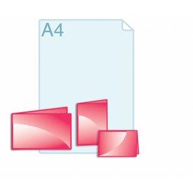 Folders eigen formaat kleiner dan A6