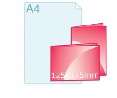 Folders drukken op 125 x 175 mm formaat
