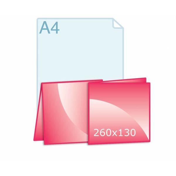 Gevouwen kaart carré 130 (130 x 130 mm)
