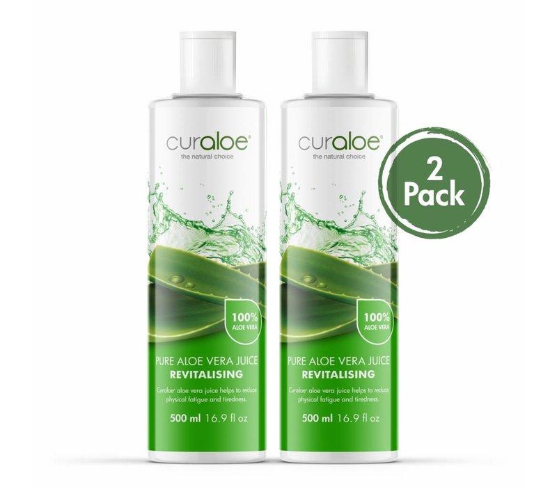 Health line - Pure Aloe Vera Juice 17.0 fl oz / 500ml - 2 pack