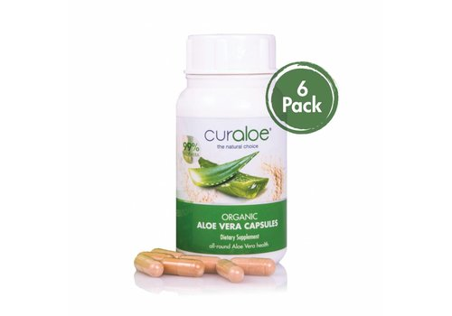 Curaloe® Health line - Organische Aloë Vera Capsules 6-pack